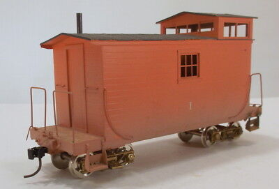 On3 BRASS UNKN WEST SIDE LUMBER Co CABOOSE #1 PAINTED