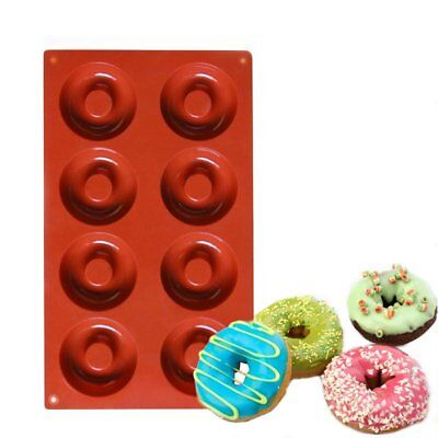 8 Cups Silicone Cake Mold Donut Baking Chocolate Candy Muffin Pan Tool CU