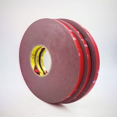 6/8/10/20mm 3M Car Auto Truck Acrylic Foam Double Sided Attachment Adhesive Tape