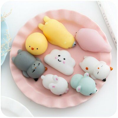 Cute Mochi Soft Animal Squeeze Stretch Compress Squishy Decompression Kids Toy C