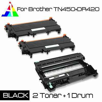2x TN450 Toner 1x DR420 drum For Brother DCP-7065DN MFC-7360N 7460DN 7860DW