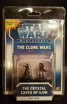 The Clone Wars The Crystal Caves of Ilum Star Wars Miniatures Map Pack Luminara