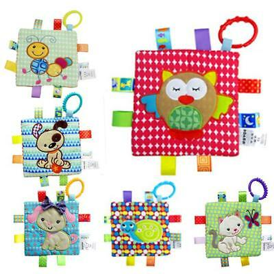 Teether Bed Handkerchief Baby Hanging Toys Newborn Plush Rattle Ring Toy New J