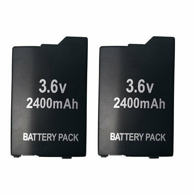 2x 3.6V 2400mAh Replacement Battery Pack for Sony PSP 2000 2001 2002 3000 3001