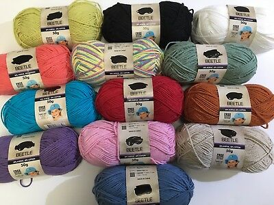 Wool Moda Vera Beetle 50% Acrylic 50% Cotton Yarn 50g Balls Knitting Crochet New