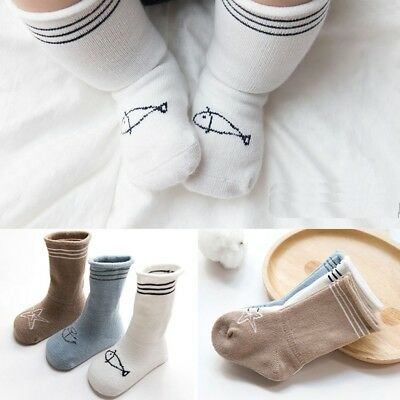 3 Pairs Baby Boys&Girls Socks Knee High Baby Socks Long Tube Kids Leg Warmers