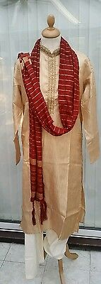 Men's Indian Bollywood Pakistani kurta pajama / salvaar with dupatta stole