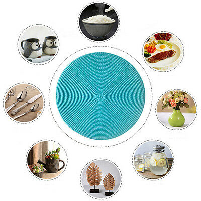 38cm Round Jacquard Weaved Non Slip Placemats Dining Table Mats Party Home