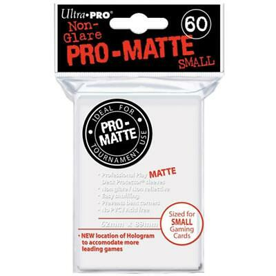 ULTRA PRO Deck Protector Sleeves Pro Matte Non-Glare White Small 60ct 62 x 89 mm