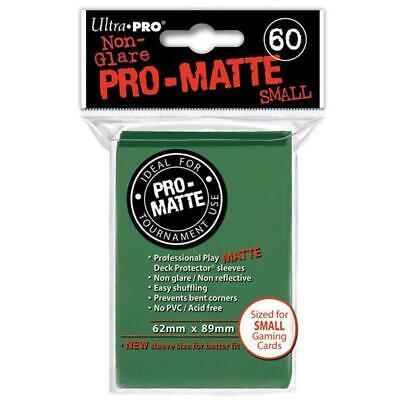 ULTRA PRO Deck Protector Sleeves Pro Matte Non-Glare Green Small 60ct 62 x 89 mm