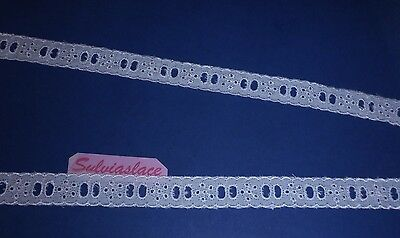3 metres of White or Cream Broderie Anglaise Eyelet Lace - Various Widths.