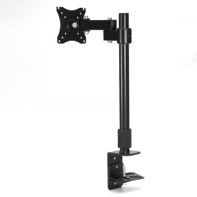 Extendable Computer Monitor Stand Singe Arm Desk Mount Bracket LCD Screen 13-27""
