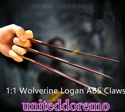 New X-Men Wolverine Logan ABS Claws High Quality of Refinement Cosplay Props