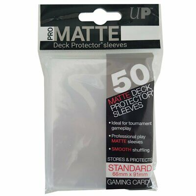 ULTRA PRO Deck Protector Sleeves Pro Matte Non-Glare Clear Standard 50ct 66 x 91