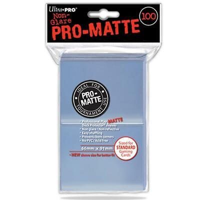 ULTRA PRO Deck Protector Sleeves Pro Matte Non-Glare Clear Standard 100ct 66 x 9