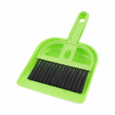 Plastic Computer Keyboard PC Cleaning Brush Dustpan Set Green Black M1S2