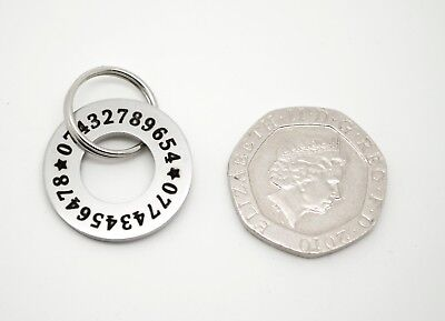 DESIGNER PUPPY ID Disc Tags - Stainless steel polo washer FREE ENGRAVING - 20mm