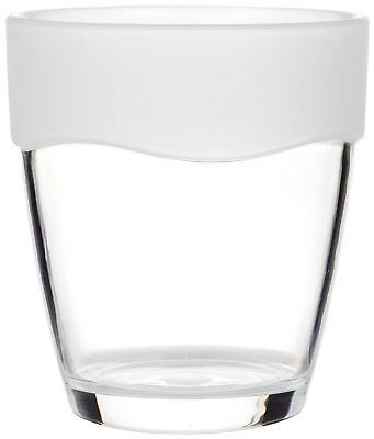 Carnation Home Fashions Clear Tumbler with Frosted Clear Trim CAR-BA-AFR/TU