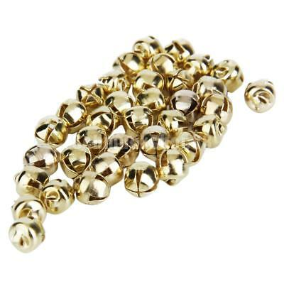 100pcs Gold Christmas Jingle Bells Charms Embellishments Jewelry Beads 6mm