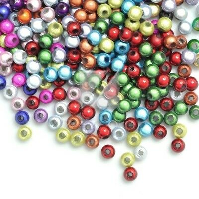 120pcs Assorted Acrylic Round Miracle Beads Jewelry Making Bracelet 4x4x4mm