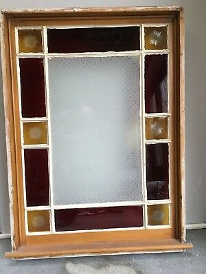 Victorian/Edwardian Window, Cut Glass Feature Panes, Etched.