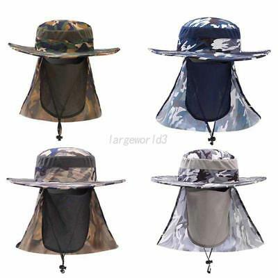 Outdoor Sun Hat Neck Face Mask Flap Cover Hiking Fishing UV Protection Sport Cap