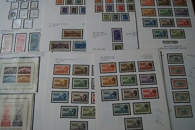 EGYPT 1925-58 MINT STAMP COLLECTION in 1927 1936 1947 1952 1953 AIR SETS/EXPRESS