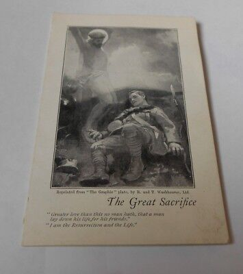 1ww memorial  prayer card  for the fallen     the great sacrifice