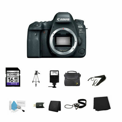 Canon EOS 6D Mark II DSLR Camera (Body Only) 16GB Bundle