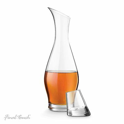 ENTASIS Final Touch 100% Lead-free Crystal Spirits Decanter 750ml Drinking Set