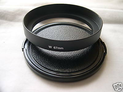 New Metal Wide Angle 67mm Screw-in Lens Hood + Cap