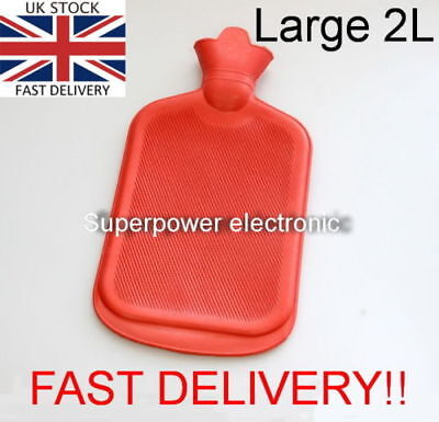 2L Large Rubber Hot Water Bottle 2 Litre