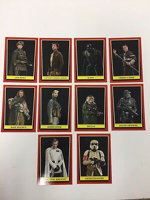 2016 Topps Star Wars Rogue One: Mission Briefing Comic Con 10 Card Set