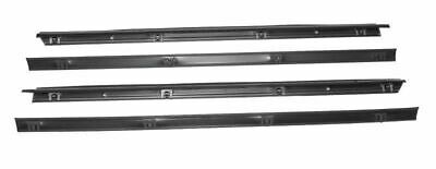 Full Door Inner Outer Glass Weather Seal 4 Piece for Jeep Wrangler 1976-1995 CJ7