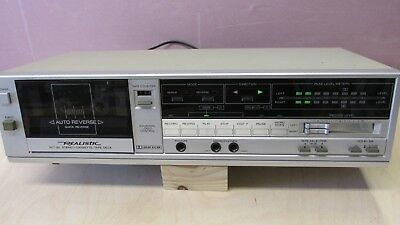 Vintage REALISTIC SCT-82 Stereo Cassette Deck CLEAN WORKS Tested - with MANUAL