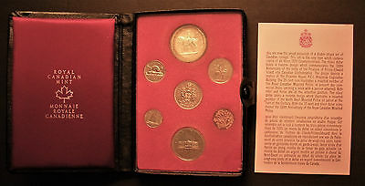 1973 Canada 7-Piece Coin Set - in Royal Canadian Mint case w silver PEI dollar