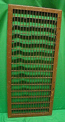 Huge Vintage 1920S Iron Heating Grate Rectangular Design 14 X 32