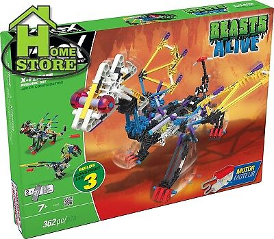 K'NEX Beasts Alive X-Flame Building Set for Ages 7 and up, Engineering...
