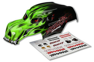 Traxxas Green Skully Heavy Duty Body with Decals 3633G TRA3633G