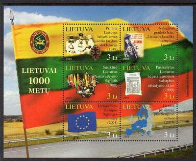 Lithuania MNH 2009 The 1000th Anniversary of Lithuania M/S