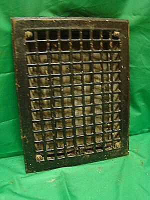 Antique Iron Heating Vent Grate Square Design 14 X 11  H