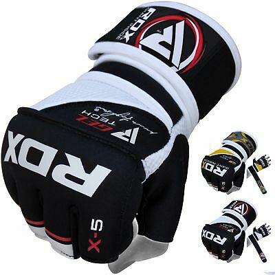 RDX MMA Gloves Boxing Wraps Punching Training  Fighting Martial Arts Punch US
