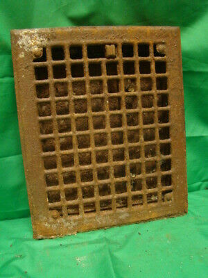 Vintage 1920S Iron Heating Grate Square Design 11.75 X 9.75 Fd