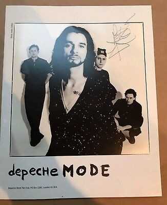 "DEPECHE MODE - SIGNED / AUTOGRAPHED SOFAD 10"" x 8"" PROMO PHOTO"