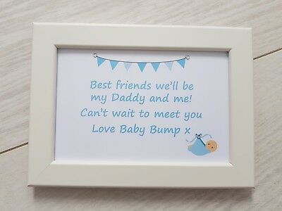 Daddy Me Frame Gift Present New Dad To Be From Baby Bump Birthday Fathers Day