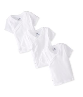 Gerber Unisex-Baby Newborn 3 Pack Short Sleeve Side Snap Shirt, White, 0-3...