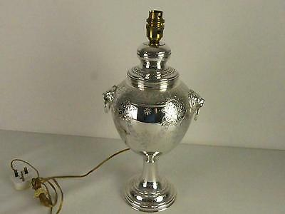 (Ref165DI) Victorian antique silver plated samovar urn converted into lamp