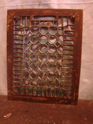 Antique Cast Iron Heating Grate Cover Unique Honeycomb Design 13.75 X 10.75 Gg