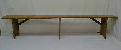 Long Antique Painted Pine Bench