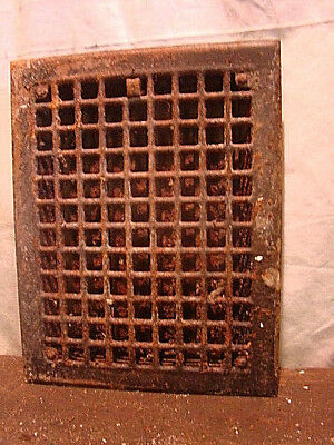 Antique Iron Heating Vent Grate Square Design 14 X 11  Fg